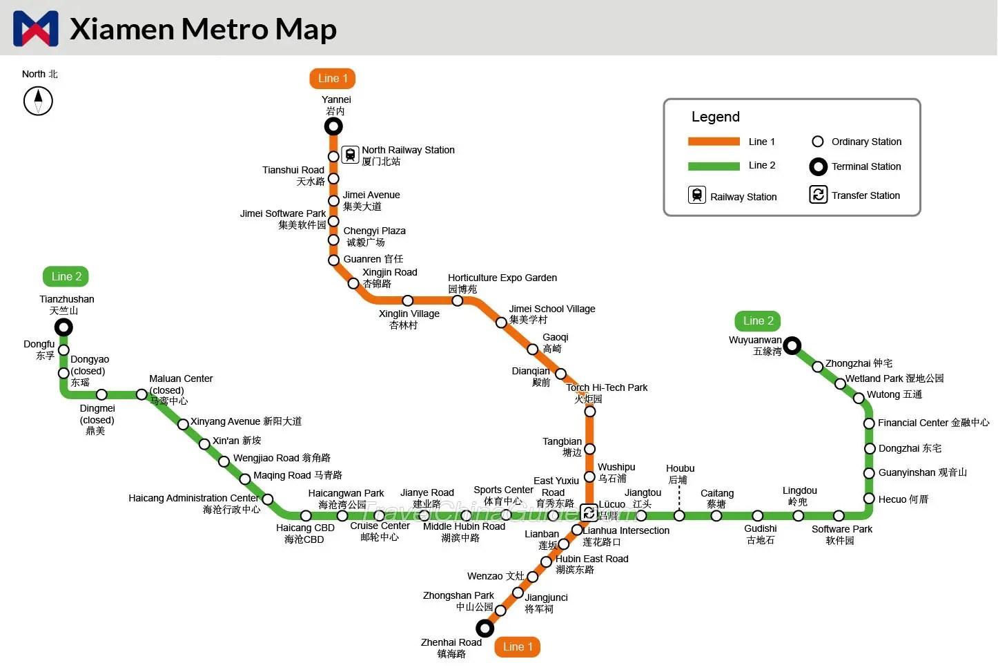 Xiamen Metro: Rail Transit, Subway Lines, Ticket Fare
