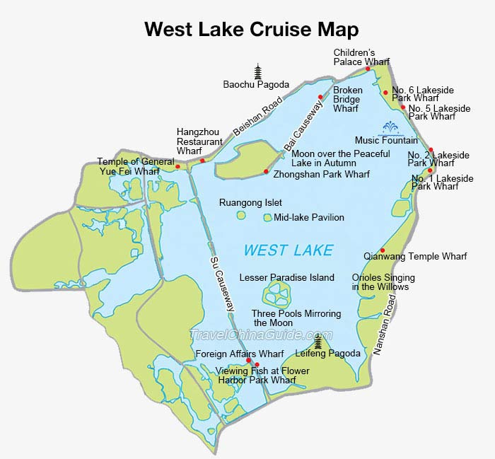 west lake cruise hangzhou zhejiang boats prices map