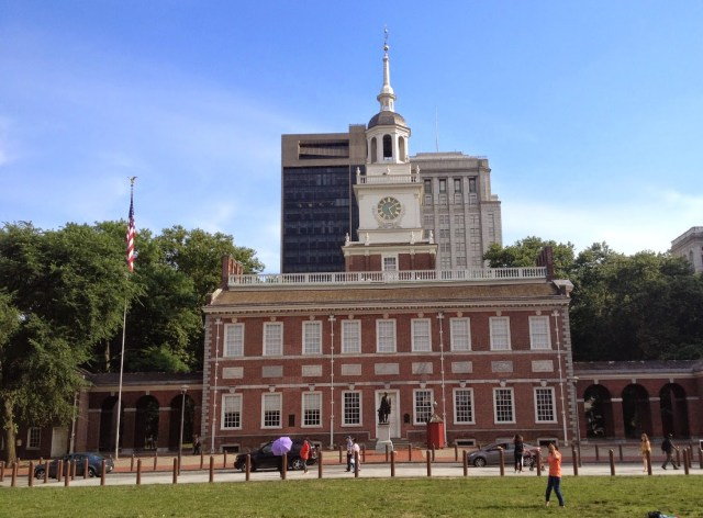 Independence Hall in Philadelphia, America