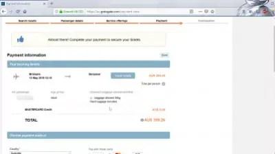 GoToGate review: is GoToGate flights booking legit? : Payment and billing details
