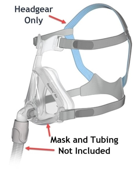 Best CPAP Masks For Mouth Breathers - ResMED Quattro Air Full Face Headgear