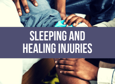 Sleep And Healing Injuries (Canva)