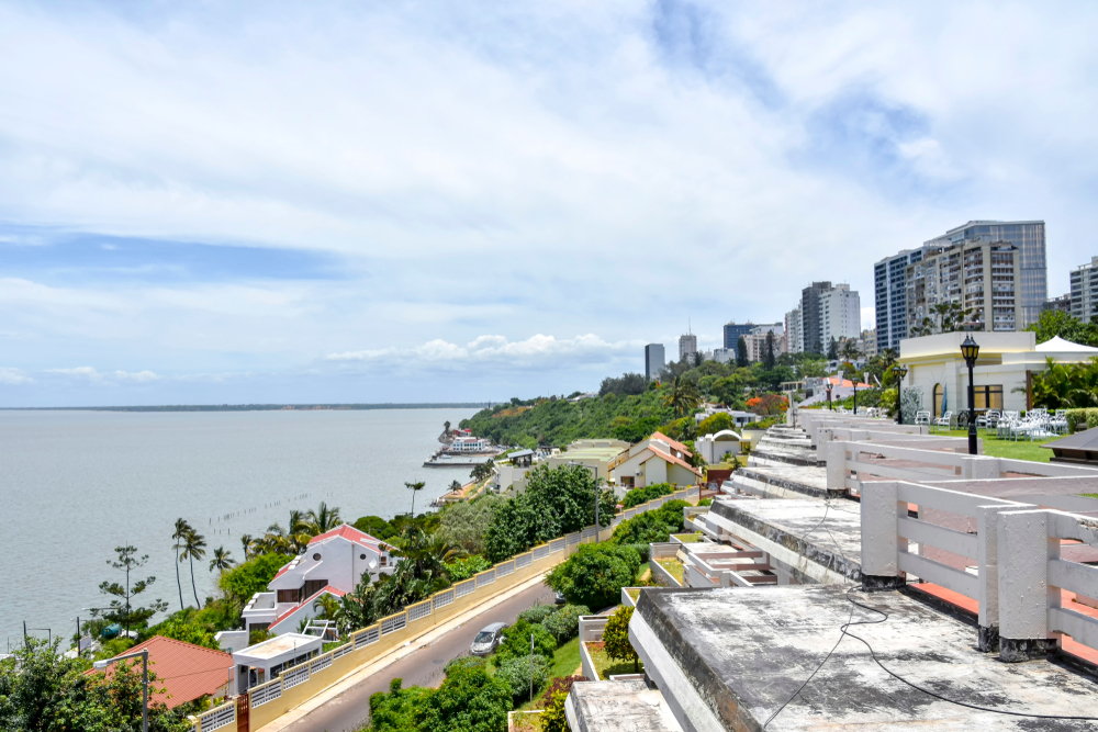 Maputo, the capital of Mozambique near the Indian Ocean