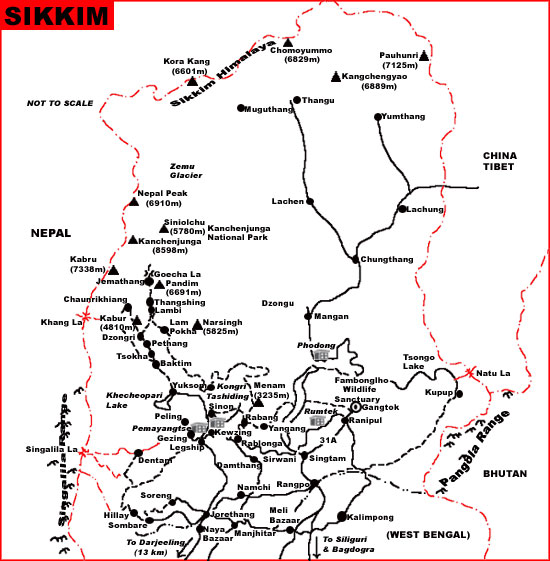 Sikkim Tourist Maps Sikkim Travel Maps Sikkim Google Maps