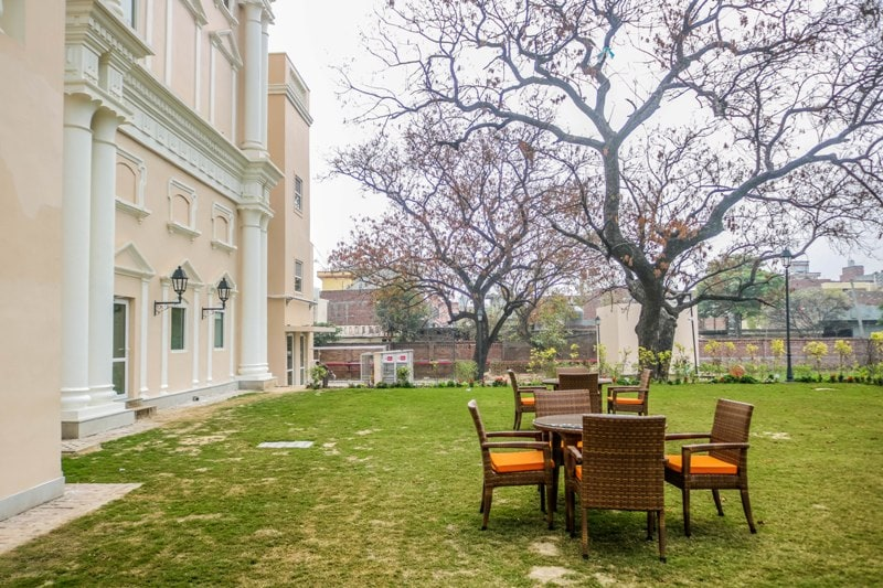The backyard of Welcomehotel Amritsar