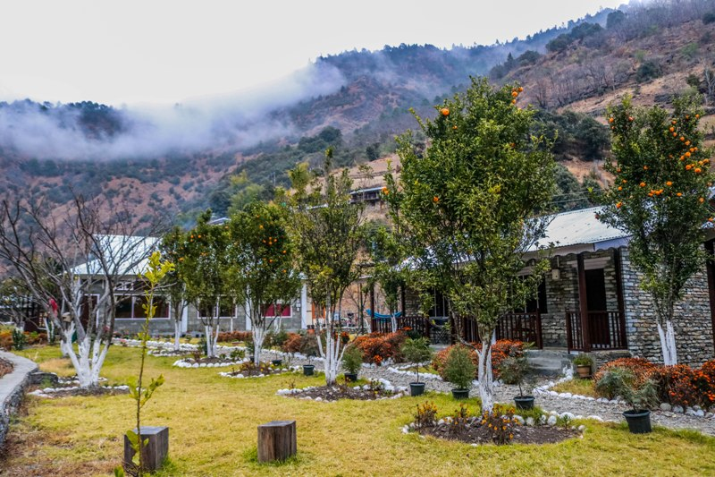 Changing weather and the views around Dirang Boutique Cottages