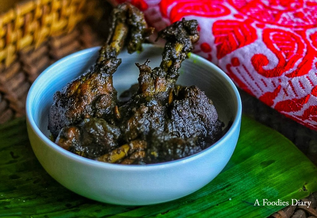 Authentic Assamese Food: Til Diya Murgi(Chicken cooked with Black Sesame)