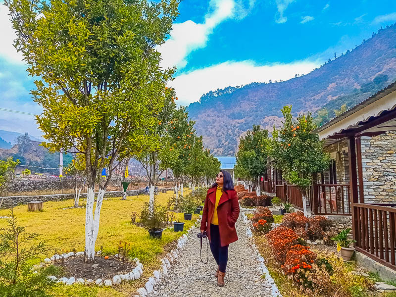 Taking a stroll around at Dirang Boutique Cottages