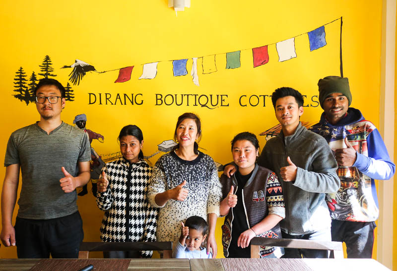 The most hospitable staff of Dirang Boutique Cottages