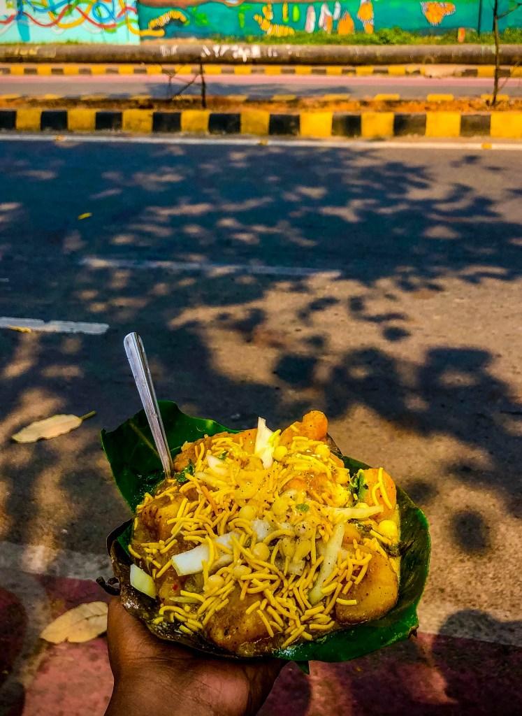 Dahi Vada Aloo Dum is a popular Odia street Snack