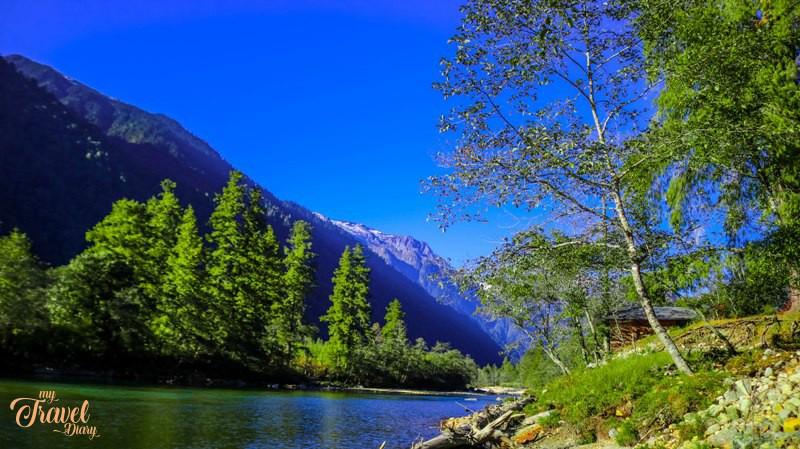 Scenic Dri river in Anini, Arunachal Pradesh