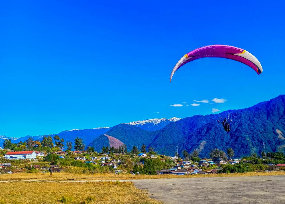 Successful landing of the test flight in Anini, Arunachal Pradesh