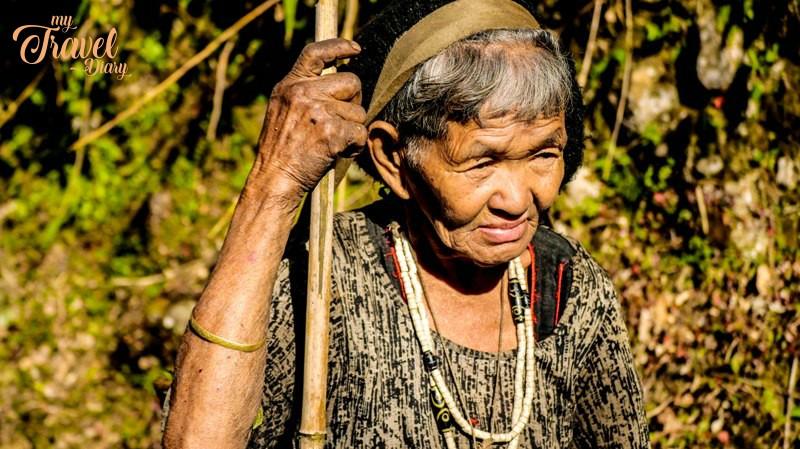 Portrait of a Idu Mishmi woman in Dembuen village