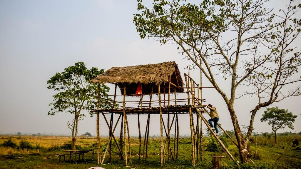 Chang Ghar in Sikom Village