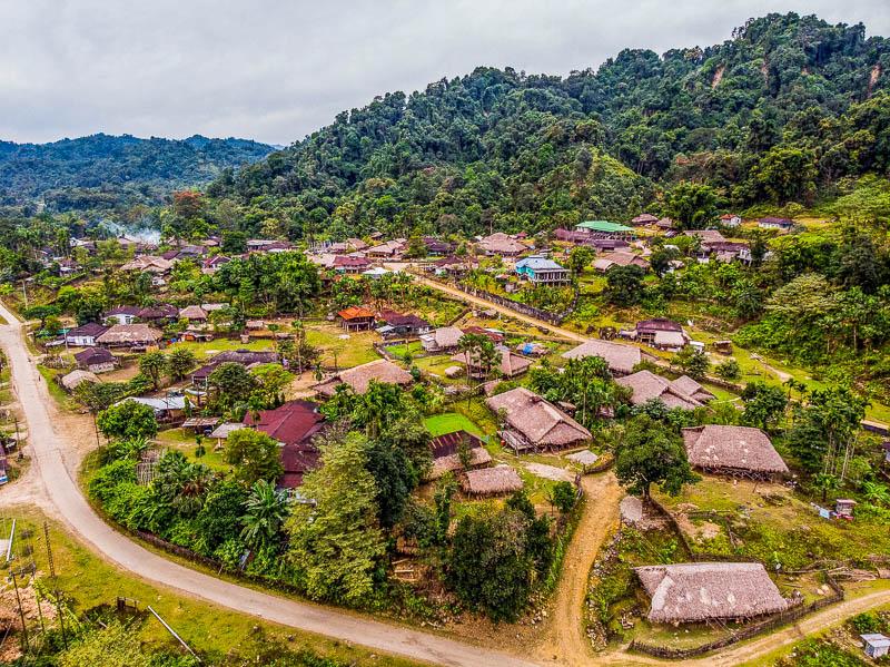 Aerial view of Basar, Arunachal Pradesh
