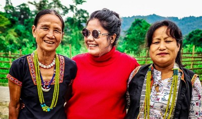 Me with Adi Tribe in Ledum Village near Pasighat