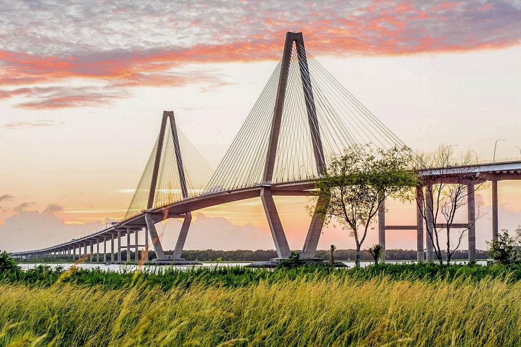 Arthur Ravenel Jr. Bridge in Mount Pleasant, South-Carolina