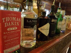 Six gins to taste at the London gin masterclass at The Trading House