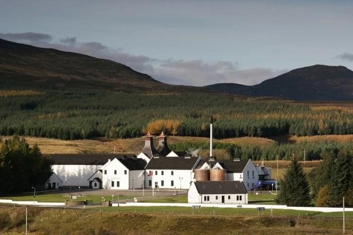 The Dalwhinnie Distillery in Scotland