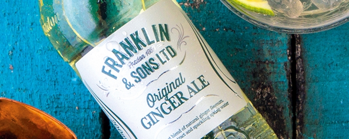 Bottle of Franklin and Sons Original Ginger Ale