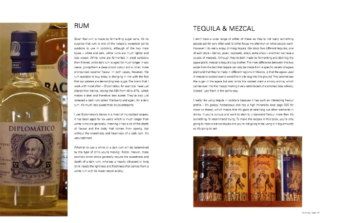 The Modern Cocktail Book Review rum, tequila and mezcal spread