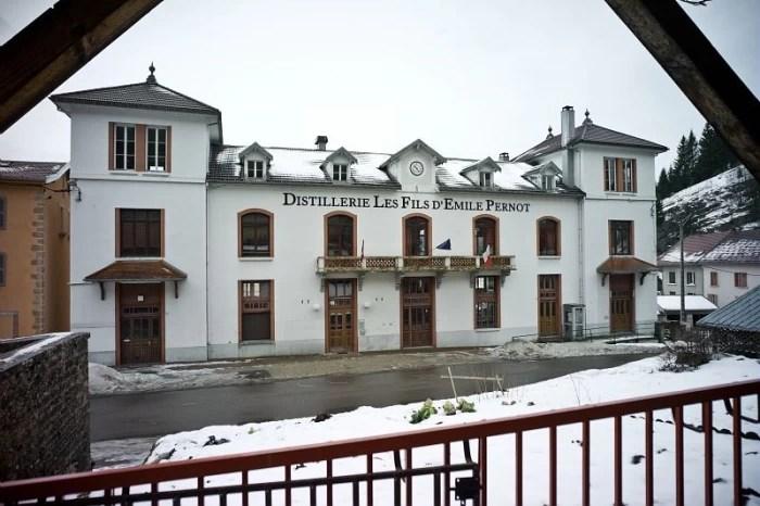 The Distillery of Les Fils d'Emile-Pernot La Cluse et Mijoux on the Absinthe Route in France