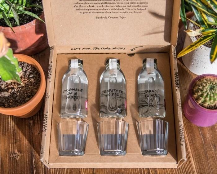 A tasting gift set of three mezcals from Sin Gusano