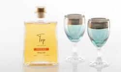 Top Beverages Mocha Rum Bottle and glasses