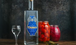 Dima's Vodka Bottle with pickles