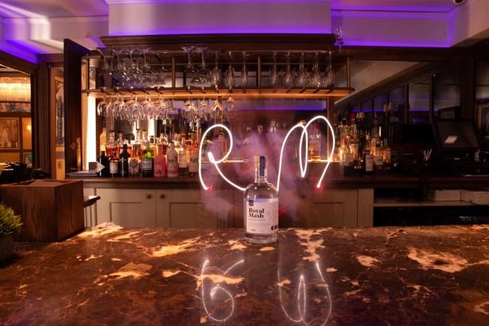Royal Mash Vintage Vodka in a bar