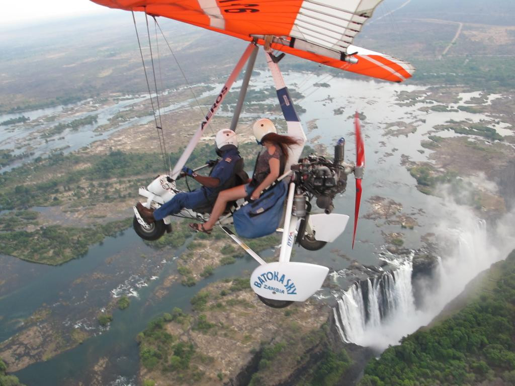 Victoria Falls activities - micro-flight