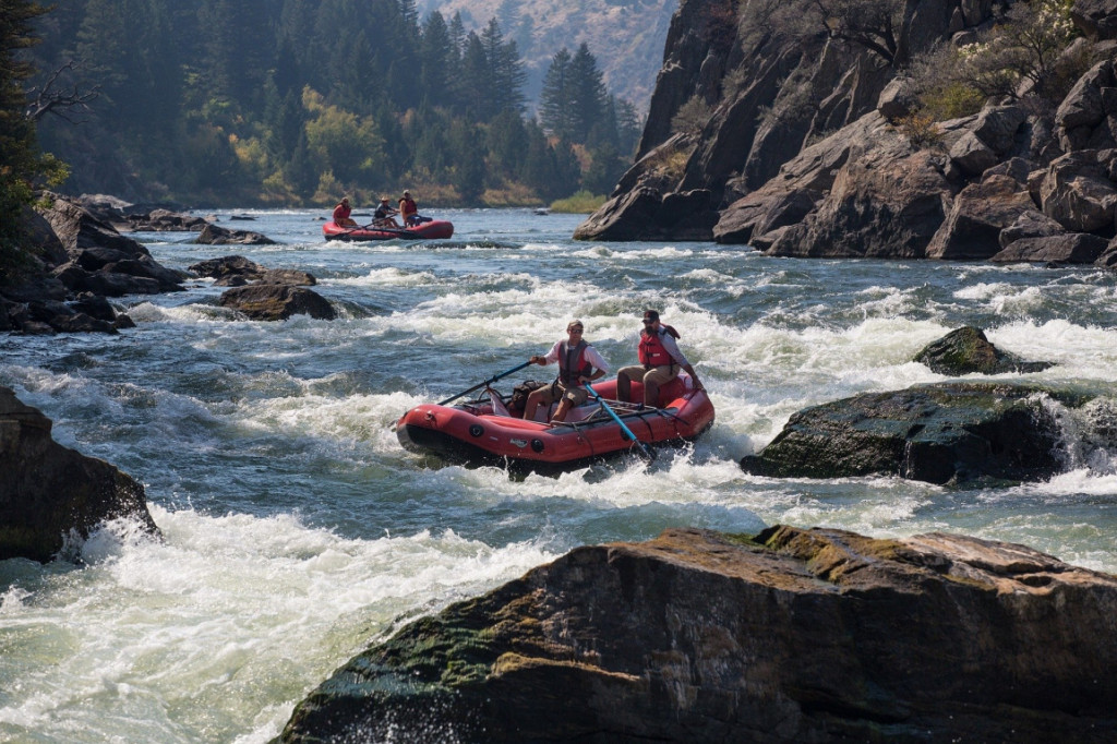 White water rafting in Montana, USA