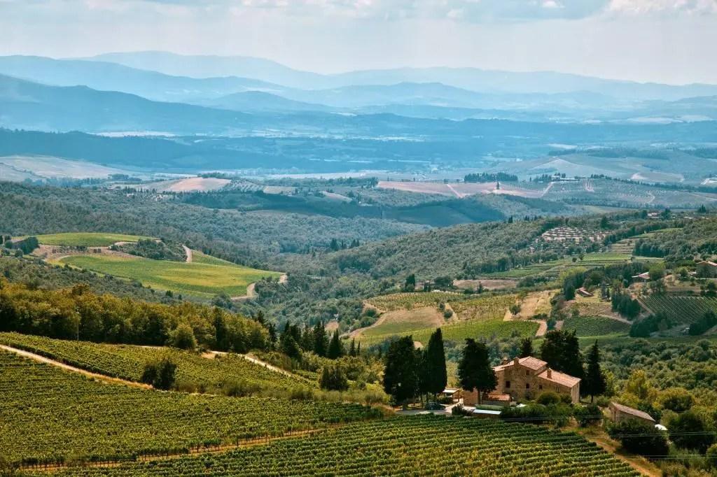 Cycling through the vineyards of Chianti