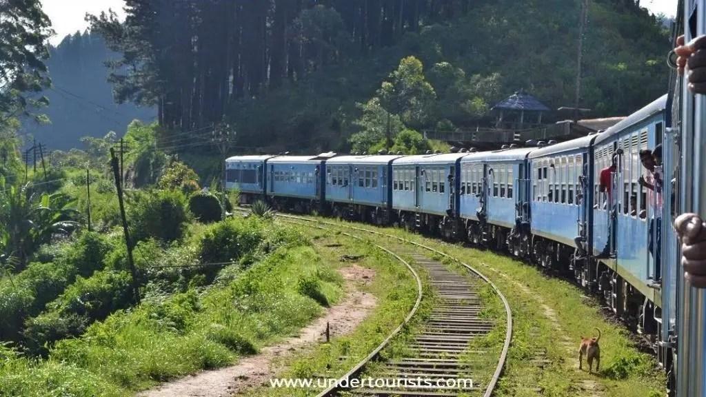 Taking the train from Ella to Kandy, Sri Lanka