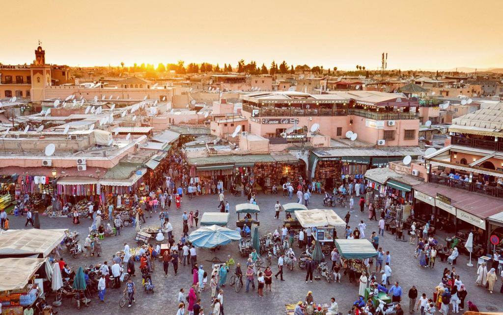 Traveling to Marrakech, Morocco