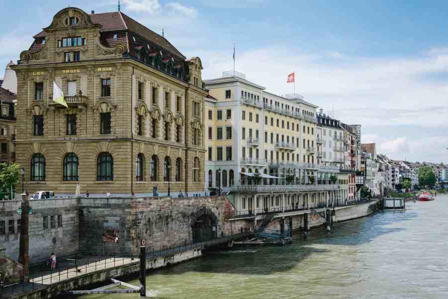 Rhine river in Basel, Switzerland