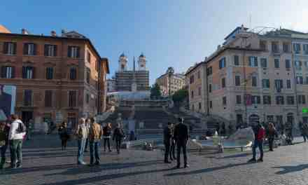 Spanish steps almost empty