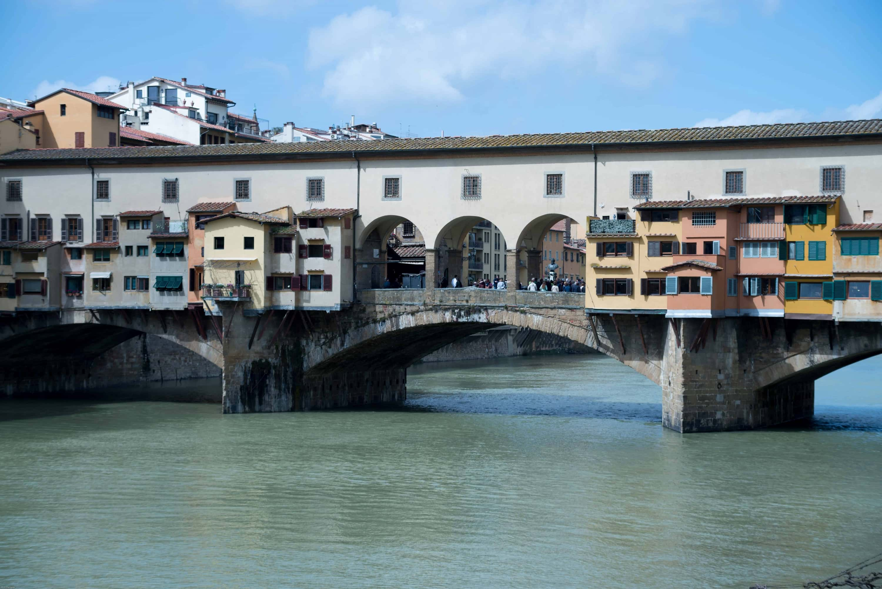 Covered bridge in Florence Italy