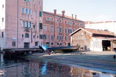 Boat shop on a Venetian canal