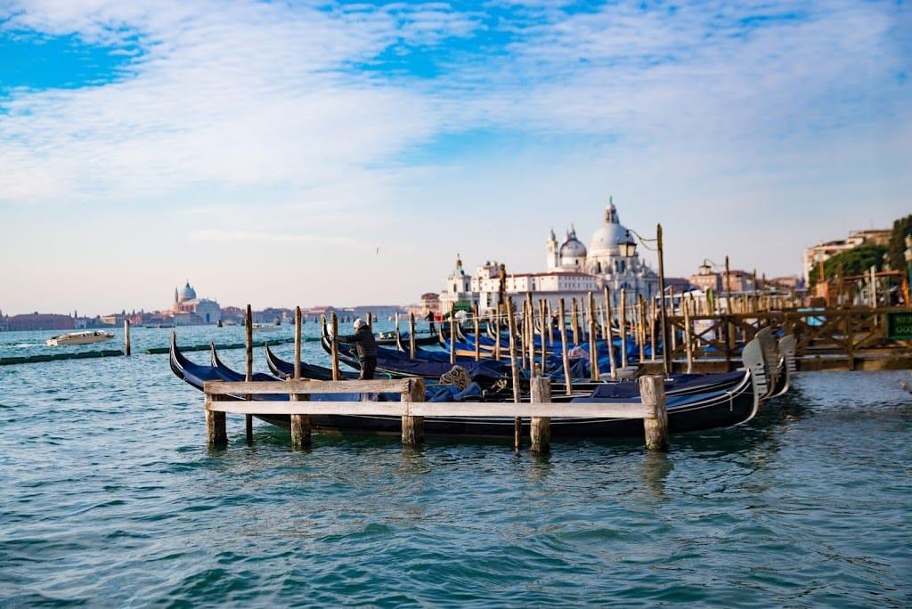 Venice Italy looking towards Basilica di Santa Maria della Salute