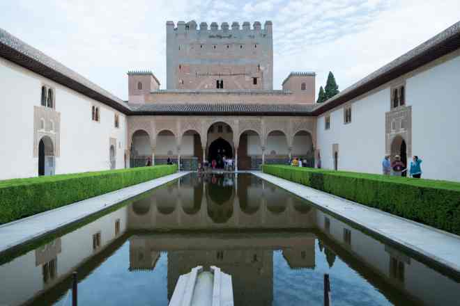 Alhambra Granada Spain reflecting pool