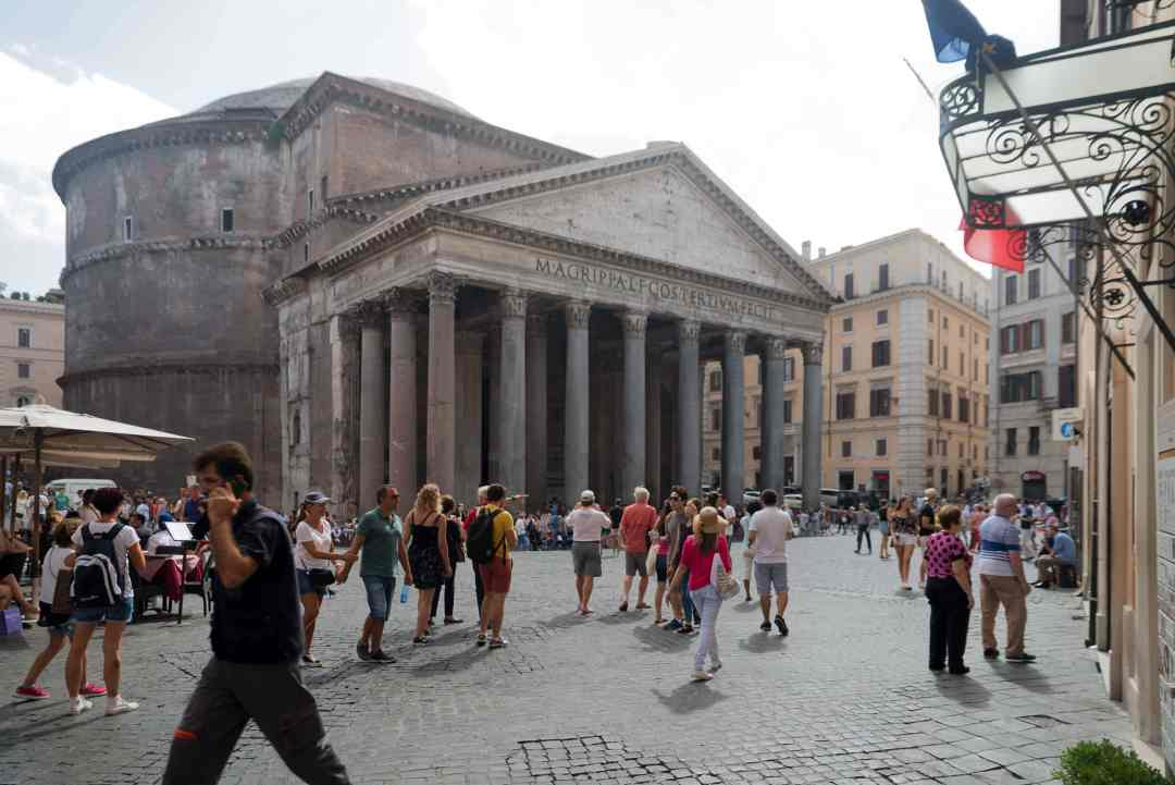 Pantheon angle view