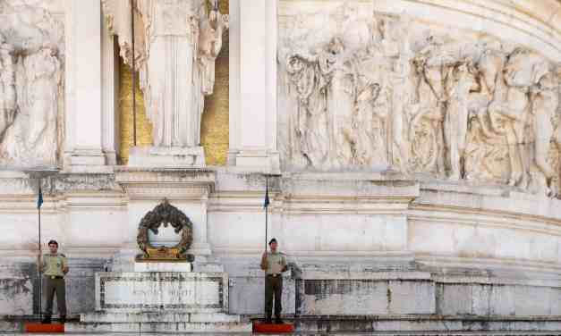 Changing of the honor guard Altare della Patria Rome Italy