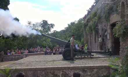 Midday cannon firing at GIANICOLO (JANICULUM HILL) Rome Italy