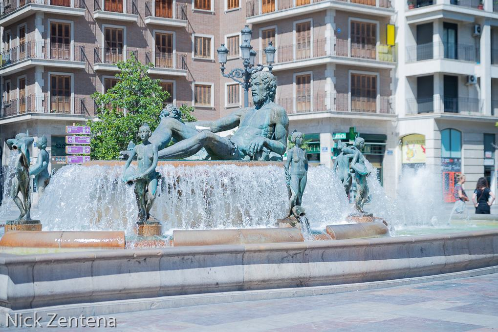 Valencia Spain fountain