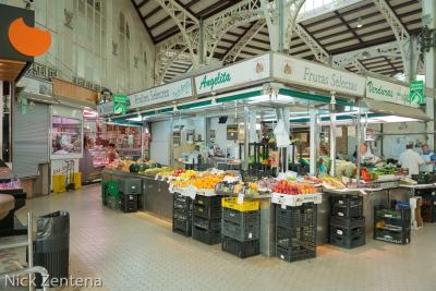 Valencia central market  fruit stall