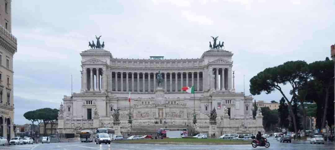 A rainy Rome Italy