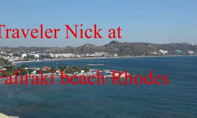 Traveler Nick at  Faliraki Kathara beach Rhodes Greece