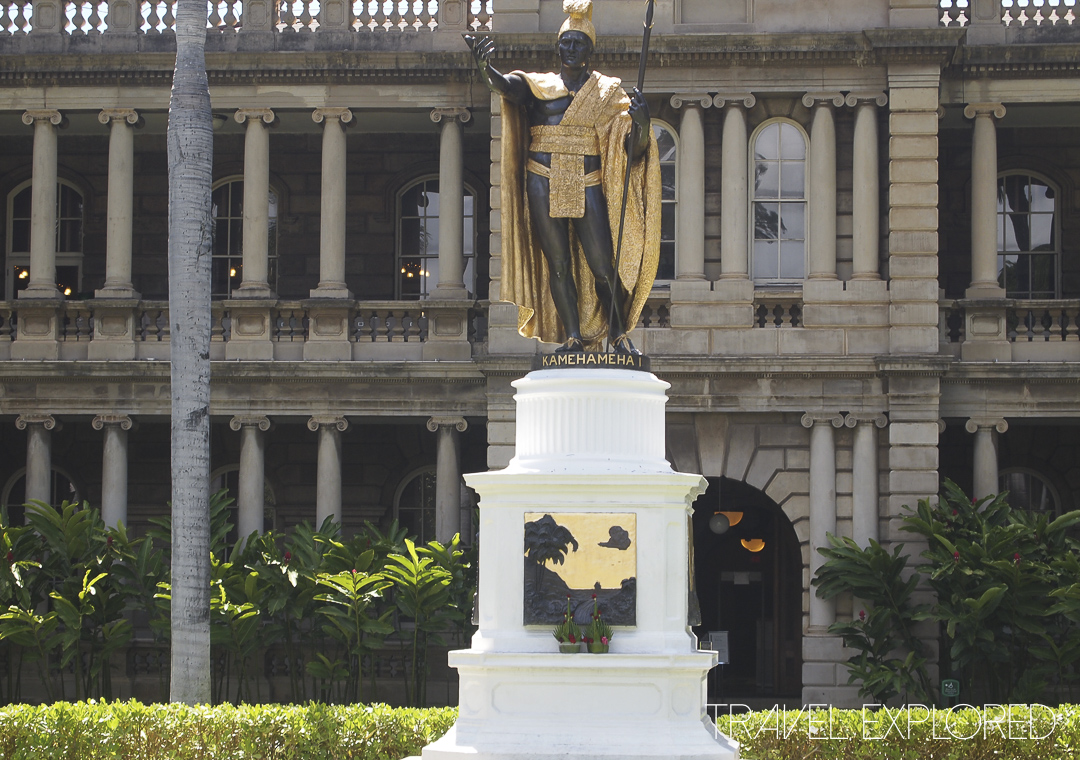 Hawaii - Honolulu - Statue of King Kamehameha 1