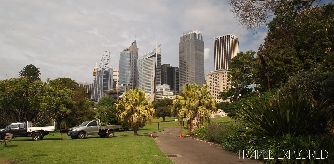 Sydney - City Skyline from Botanical Gardens